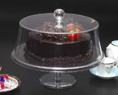 Acrylic Round Cake Stand W Cover S 25cm