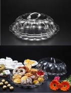 Cake/bread Platter W Cover Transparent 41X14cm (NEW)