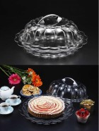 Cake/bread Platter W Cover Transparent 36X13cm (NEW)