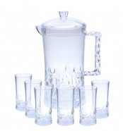 Acrylic Water Set 7Pcs Clear Stone Design (NEW)