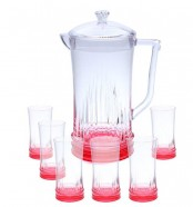 Acrylic Water Set 7Pcs Red Rain Design (NEW)