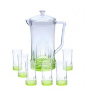 Acrylic Water Set 7Pcs Green Rain Design (NEW)