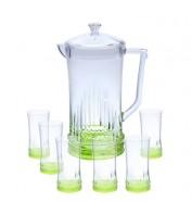 Acrylic Water Set 7Pcs Green Rain Design (NEW)