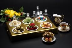 AC Golden Tray With 6 MIni Tajin  41.5x28.5x13 cm