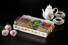 AC. LASER SERVING TRAY FLIP COVER / 5 COMPARTMENTS   37X25X5.5CM