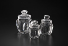 AC Transparent Belly Round Jar M  8.7*8.7*15