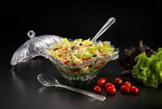 Ac. Salad Bowl W/ Spoon & Fork Servers