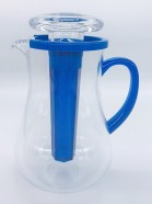 VAGUE ACRYLIC WATER JUG 2L WITH ICE TUBE SET  Mix Color
