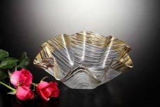 Ac Flower Bowl Golden 34cm