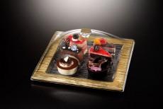 Ac. Square Dessert Serving Set Square Bark Golden 31X31cm Vague