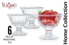 Glass Ice Cream Cup  set /6 Size 6 oz / IC14706/6CB