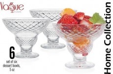 Glass Ice Cream Cup  set /6 Size 5 oz / IC6805A/6CB