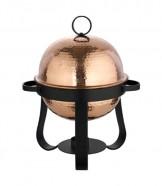Round Copper & Steel Chafing Dish 6 Liter