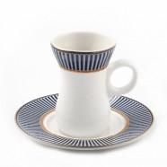 H.P Ivory Belly Tea Cup & saucer Set/ 12 D07