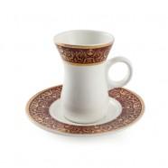 H.P Ivory Belly Tea Cup & saucer Set/ 12 D08