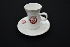 H.P Ivory Belly Tea Cup & saucer Set/ 12 D09