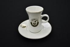 H.P Ivory Belly Tea Cup & saucer Set/ 12 D10