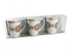 H.P Ivory Coffee & Tea Mug Set/3 D03