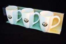 H.P Ivory Coffee & Tea Mug Set/3 D10