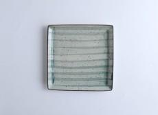 H.P Deco. Green Square Plate 22X22cm    / 08-1557DG