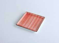 H.P Deco. Red Square Plate 18X18cm    / 08-1556DR