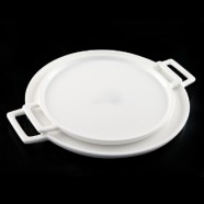 H.P. Ivory Pizza Plate 15.5