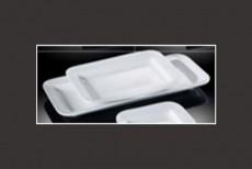 H.P Ivory / Rectangula Rimmed Buffet Plate 61cm