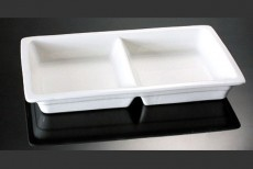 H.P Ivory / Chaffing Dish Insert Two Compartments