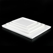 H.P. Ivory 25.7*20*1.5Cm Rect.Plate