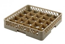 Glass Rack-25 Compartment Beig