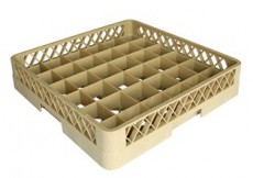 Glass Rack-36 Compartment Beig