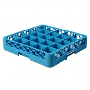 JW-25 / 25-COMPT. GLASS RACK BLUE, JIWINS
