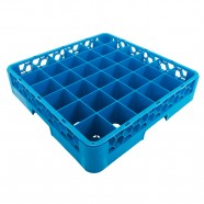JW-36 / 36-COMPT. GLASS RACK BLUE, JIWINS