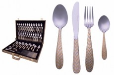 Vague 76Pcs Golden Cutlery Bag Set Color Box