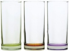 91206CB88-SV6B8 Classico Water Glass 27 Coloured Bottom MIX  (NEW-COMING)