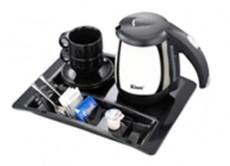 3012T4/Kinox1L cordless electric jug,Melamine tray w/crockery