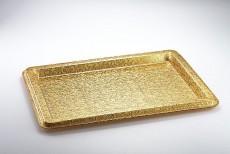 Acrylic Tray Bride Dress Gold Cloth 68*50*3